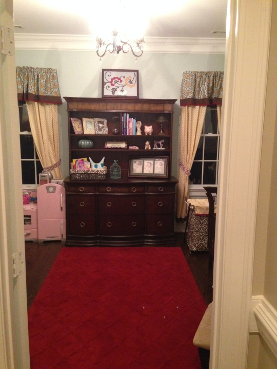 View from the hallway when it was set up with a toddler bed