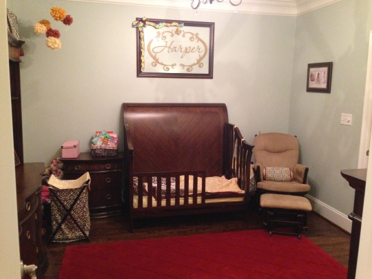 Her room when she had the crib/toddler bed