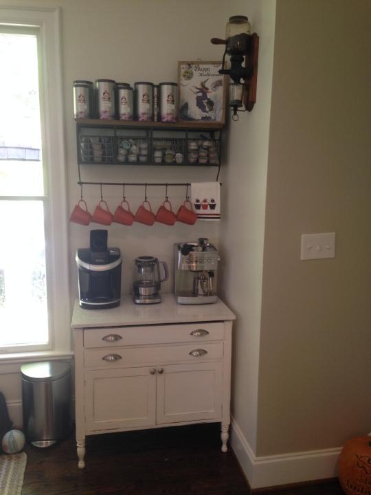 Coffee bar/caffeine station