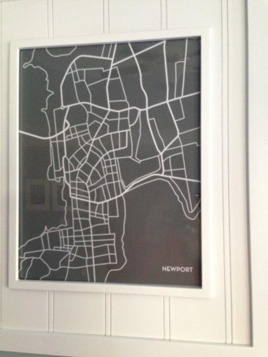 Custom City Map of Newport RI created by JennaSue Designs.