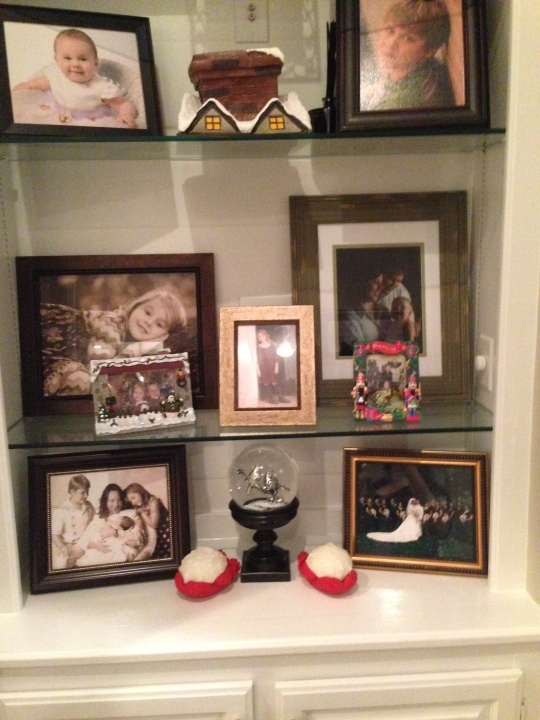 Adding a few Holiday frames and pictures from Christmas Past.