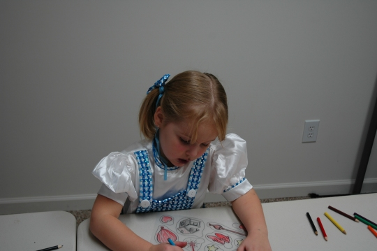 Coloring so intently.  Where has the time gone?