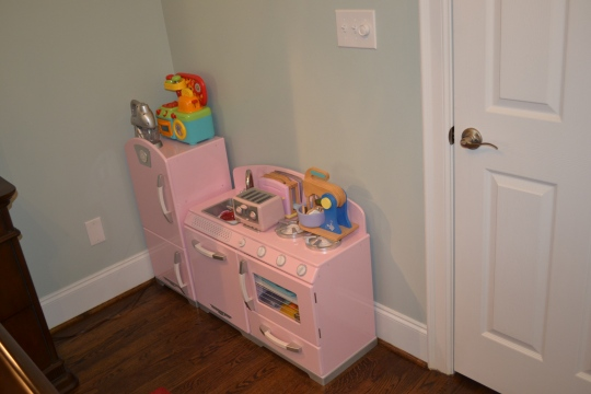 The kitchen that had to be in her bedroom instead of her playroom ;)