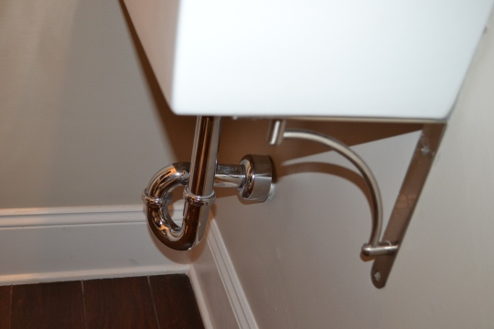 Close up of the brackets