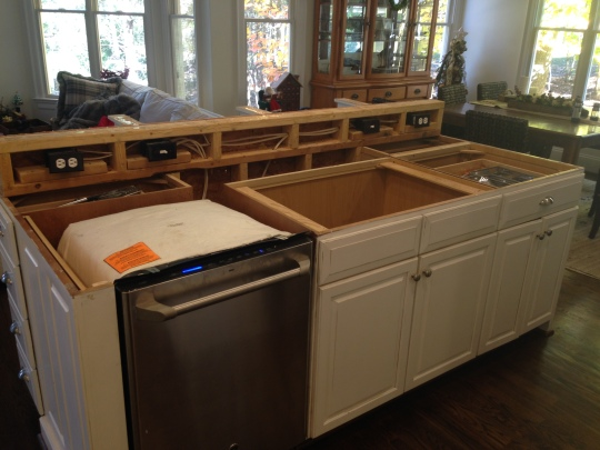 Getting ready for counter top installation
