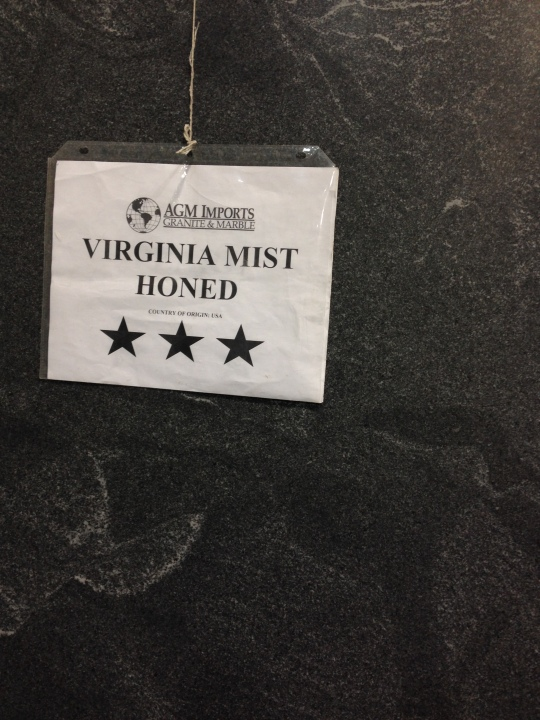 Virginia Mist Granite Honed (matte finish)
